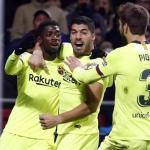 Jugadores del Barça celebrando un gol / Youtube