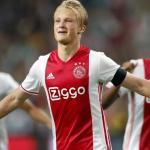 Dolberg, celebrando un gol con el Ajax (UEFA)