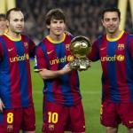Iniesta, Messi y Xavi (FC Barcelona)
