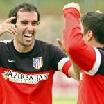 Godin en un entrenamiento con el Atlético / Atlético