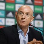 Serra Ferrer en rueda de prensa / Betis