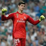 Courtois, durante un partido (Real Madrid)