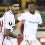 Banega celebra un gol con el Sevilla / Foto: Sevilla FC