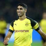 Achraf en un partido con el Dortmund. / fotmob.com