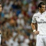 James y Bale durante un partido (Youtube)