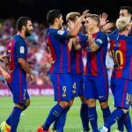 Jugadores del Barcelona celebrando un gol / Goal COM