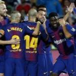 Jugadores del Barcelona celebrando un gol /FC Barcelona