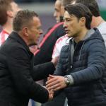 Niko Kovac saludando a Ralf Rangnick. / en24.news