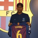 Todibo en su presentación / Barça
