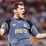 Casillas en un partido con el Porto. / laprensa.hn