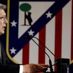 Enrique Cerezo en un acto del club / Atlético