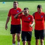 Ángel correa en un entrenamiento con el Atlético. / es.sports.yahoo.com