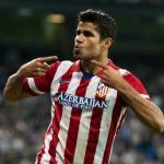 Costa celebra un gol con el cuadro colchonero (Atlético de Madrid)