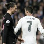 Recado de Ibra a Cristiano. Foto: Getty