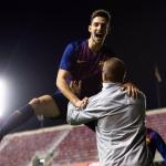 Marqués celebra un gol en la Youth League (FC Barcelona)