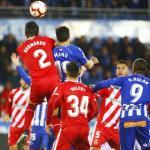 Una imagen del encuentro de esta noche ante el Alavés (Girona FC)