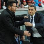 Diego Simeone y Ernesto Valverde, durante un encuentro de Liga. Foto: Youtube.com