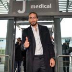 Cáceres, a su llegada a Turín (Juventus)