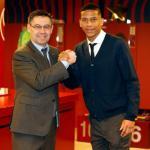 Bartomeu y Todibo, a su llegada al club (FC Barcelona)
