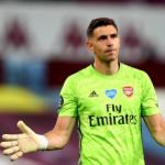 """El error del Arsenal con Emiliano Martínez """"Foto: TyC Sports"""""""