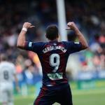 Sergi Enrich, celebrando un gol / twitter