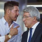 Simeone y Cerezo. Foto: ABC.