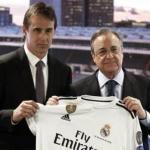 Julen Lopetegui y Florentino Pérez. Foto: Real Madrid.
