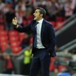 Ernesto Valverde durante un encuentro de la Liga. Foto: FCBarcelona.es