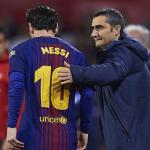 Ernesto Valverde y Leo Messi / Fox Sport Asia