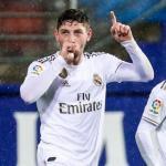 Valverde anotó uno de los goles en la goleada sobre el Eibar. FOTO: REAL MADRID