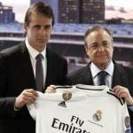 Julen Lopetegui y Florentino Pérez. Foto: realmadrid.com.