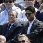 Florentino Pérez junto a Nassir Al-Khelaïfi. / elgoldigital.com