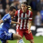 Filipe Luis en un partido con el Atlético / 20 minutos