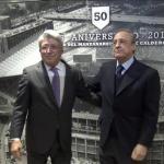 Enrique Cerezo posando junto a Florentino Pérez. Foto: RealMadrid.com