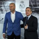 Zinedine Zidane y Florentino Pérez. Foto: Getty Images.