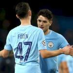Foden y Brahim, celebrando un gol (Manchester City)