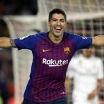 Suárez, celebrando un gol (FC Barcelona)