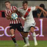 """Una joven perla de River Plate, con pie y medio fuera, finalmente se queda """"Foto: TNT Sports"""""""