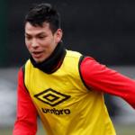 Hirving Lozano entrenando con el PSV. Foto: Youtube.com