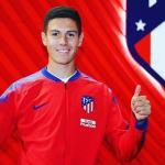 Nehuén Pérez, tras su llegada al Atlético de Madrid / Instagram.