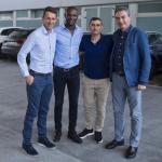 Planes, Abidal, Valverde y Segura (FC Barcelona)