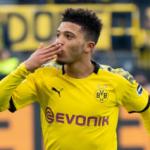 """""""Jadon Sancho se desquita con el Borussia Dortmund. Foto: Getty Images"""""""