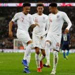 Jadon Sancho celebrando un gol con la selección inglesa. Foto: The Guardian