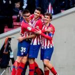 Jugadores del Atlético de Madrid celebrando un gol. Foto: Telemadrid.es