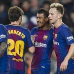 Jugadores del FC Barcelona celebrando un gol. Foto: FCBarcelona.es