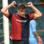 Krzysztof Piatek celebrando un gol con el Genoa. Foto: Youtube.com