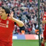 Luis Suárez celebra un gol en Wembley/lainformacion.com/EFE