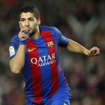Luis Suárez celebrando un gol con el Barça. Foto: FCBarcelona.es