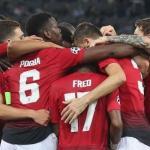 Jugadores del Manchester United, celebrando un gol esta temporada / twitter.