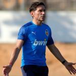 Marcelino en un entrenamiento con el Valencia. / culemania.com